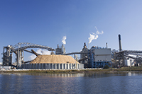 papermill on river