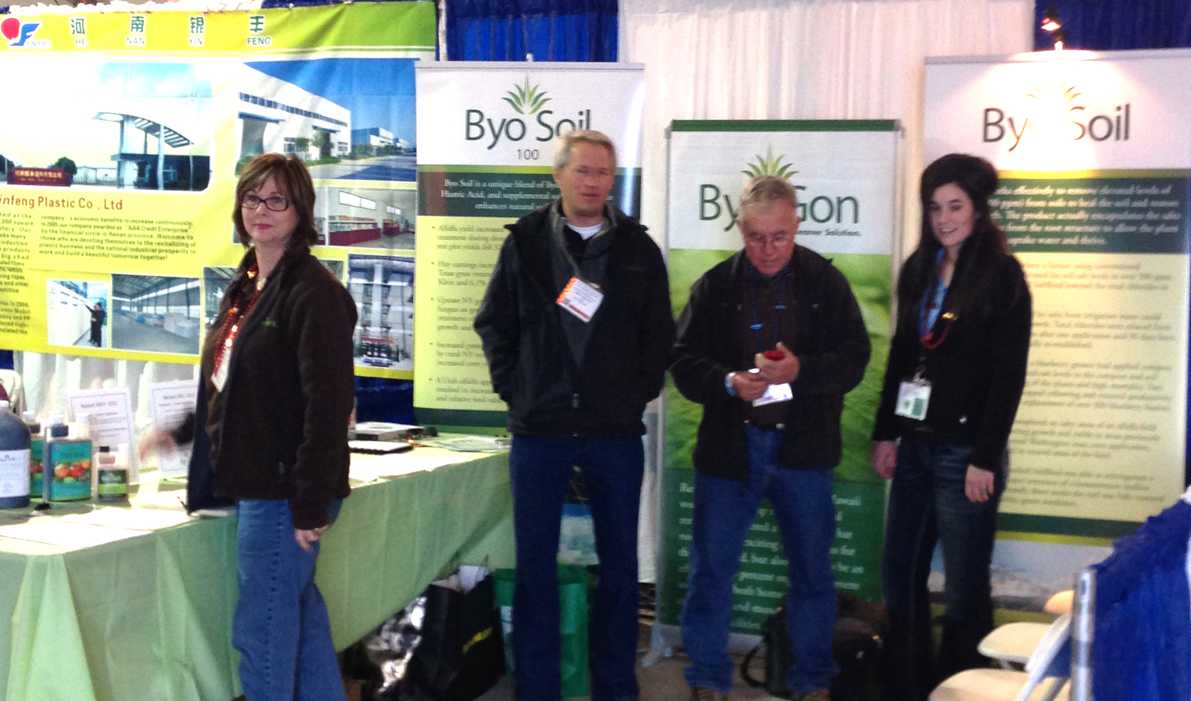 ByoSoil representatives at the World Ag Expo